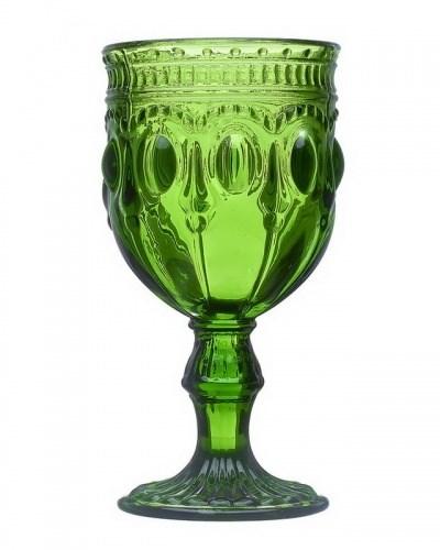 """Бокал """"Самоцвет"""" зеленый 280 мл из цветного стекла - фото 18453"""