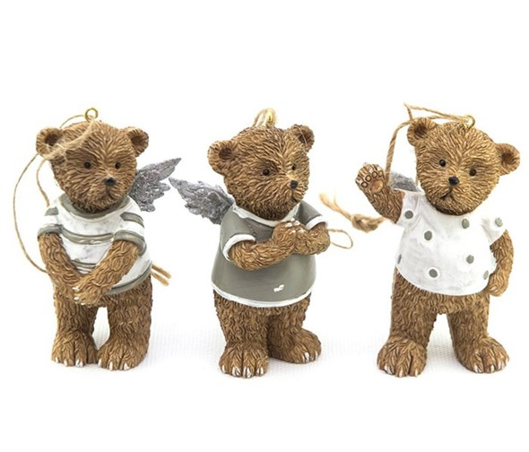 "Елочная игрушка ""Медвежонок"", цена за 1 шт - фото 18554"