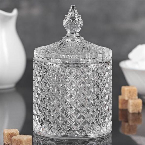 Сахарница стеклянная 230 мл - фото 18719