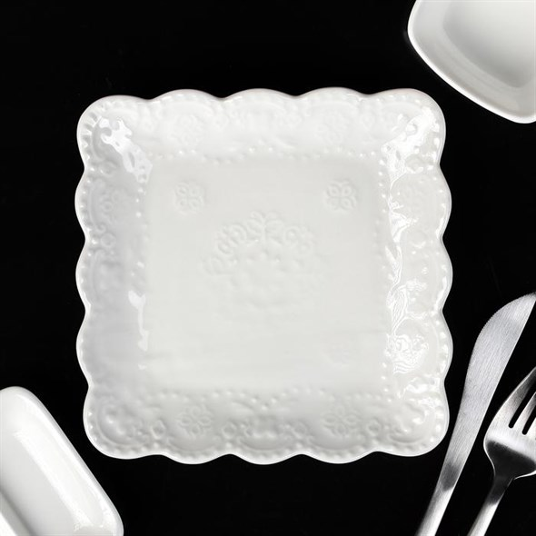 "Блюдо квадратное ""Кружево"" 15х15 см - фото 18724"