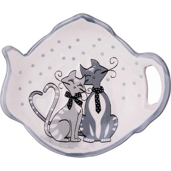 """Подставка для чайных пакетиков """"Влюбленные кошечки"""" - фото 18783"""