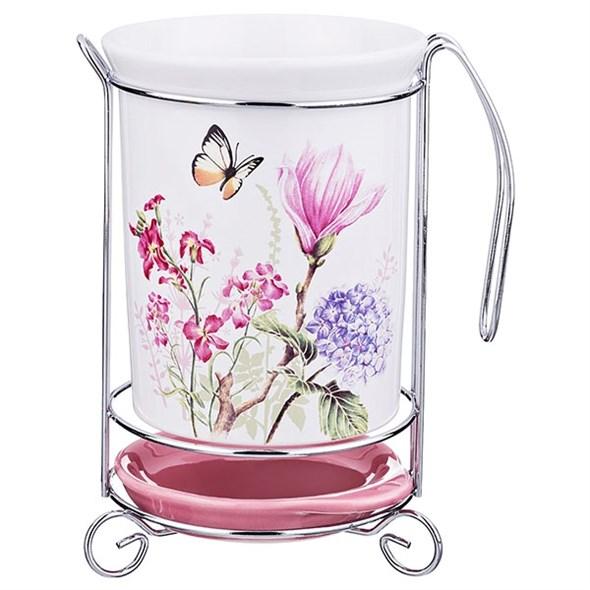 """Подставка для кухонных приборов """"Летние цветы"""" - фото 18817"""