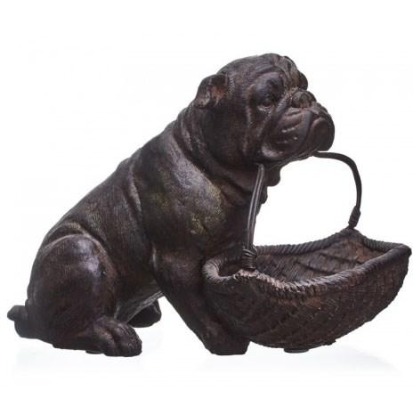"Статуэтка ""Собака с корзиной"" - фото 18828"