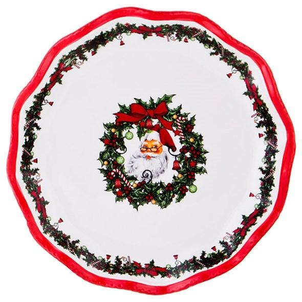 """Блюдо """"Дед Мороз"""" диаметр 25 см - фото 19253"""