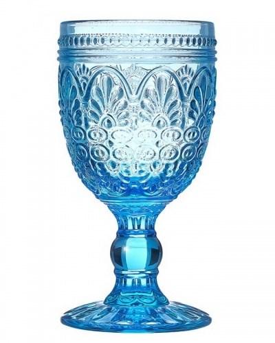 """Бокал """"Испания"""" 210 мл голубой из цветного стекла - фото 19293"""