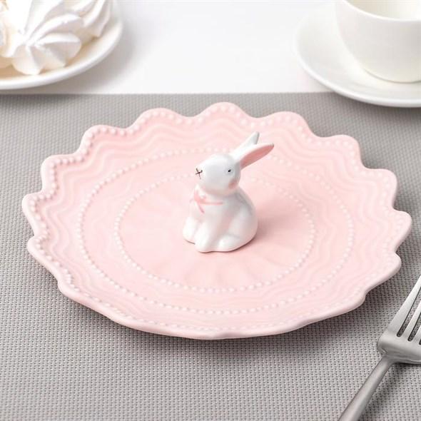 """Блюдо-подставка """"Кролик"""" 21 см, цвета в ассортименте - фото 19556"""
