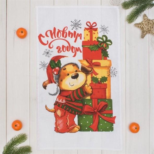 "Полотенце кухонное ""Новогодние подарки"" - фото 19558"