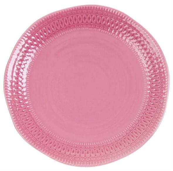 "Тарелка ""Розовый узор"" диаметр 29 см - фото 19656"