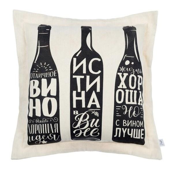 """Наволочка декоративная """"Вино"""" 40х40 см - фото 19930"""