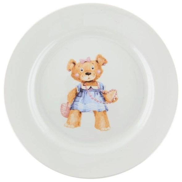 """Тарелка """"Медвежонок"""" 20 см в ассортименте, цена за 1 шт - фото 20034"""