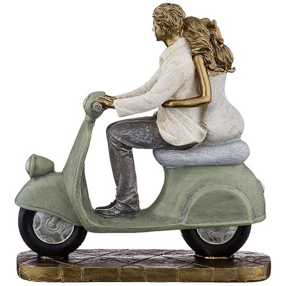 """Статуэтка """"Влюбленные на мотоцикле"""" - фото 20152"""