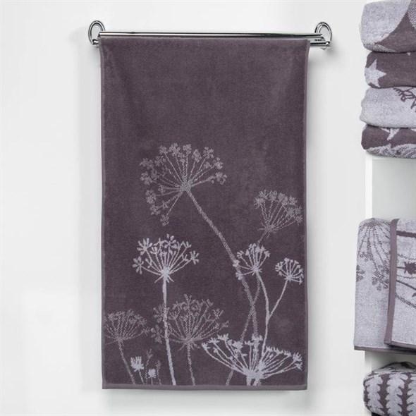 """Полотенце махровое """"Полевые цветы"""" 50х90 см серое - фото 20168"""