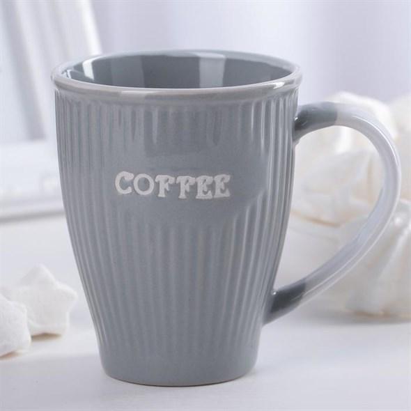 """Кружка """"Кофе"""" 270 мл серая - фото 20292"""