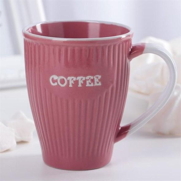 """Кружка """"Кофе"""" 270 мл розовая - фото 20293"""