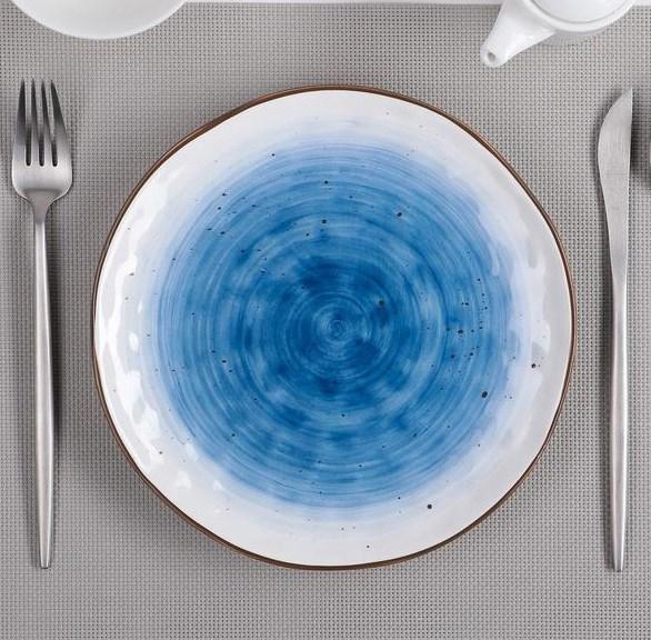 """Тарелка """"Испания"""" 22 см синяя - фото 20371"""