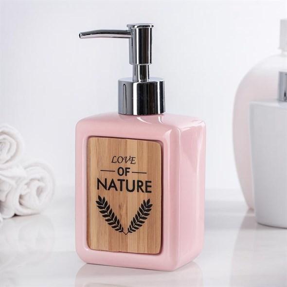Дозатор для мыла розовый - фото 20754