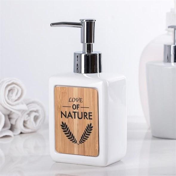 Дозатор для мыла белый - фото 20755