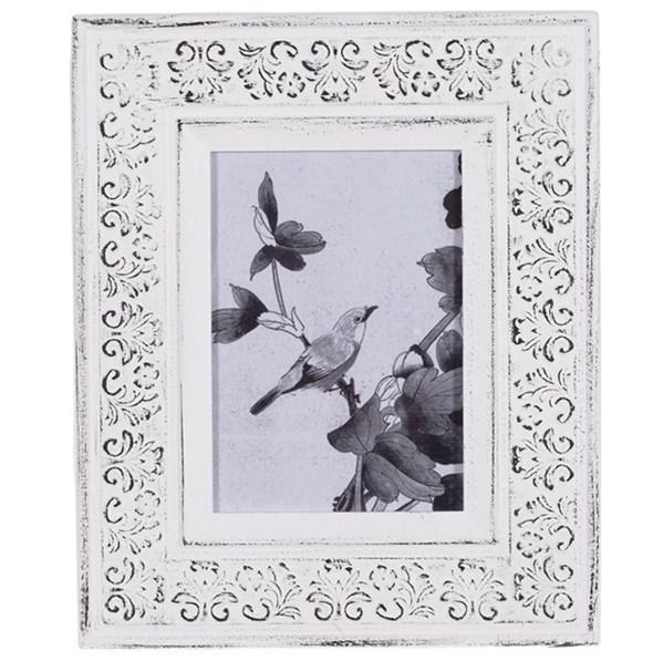Фоторамка белая для фотографии 12х17 см - фото 20797