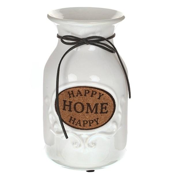 """Ваза керамическая """"Счастливый дом"""" белая - фото 20802"""