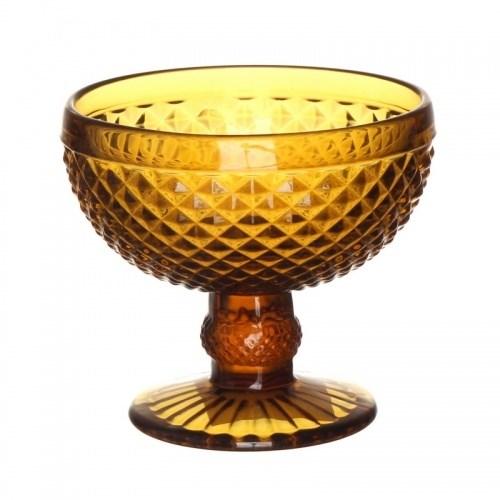 """Креманка """"Винтаж"""" желтая из цветного стекла - фото 20811"""