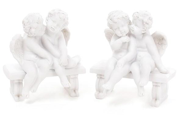 "Статуэтка ""Ангелы на скамейке"" в ассортименте, цена за 1 шт - фото 20956"