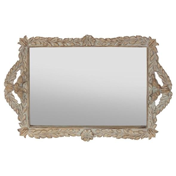 Поднос зеркальный 39х25 см - фото 21095