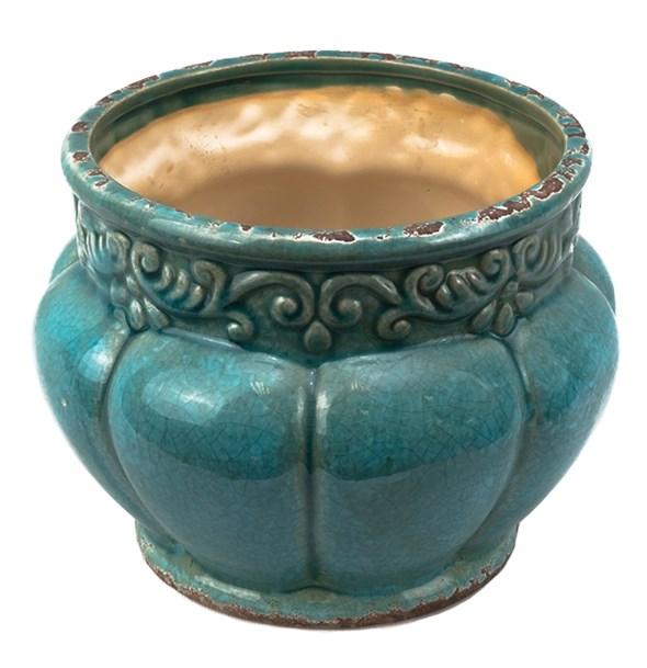 Ваза керамическая состаренная - фото 21156