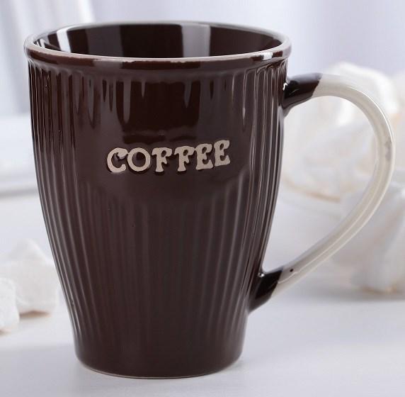 """Кружка """"Кофе"""" 270 мл коричневая - фото 21256"""