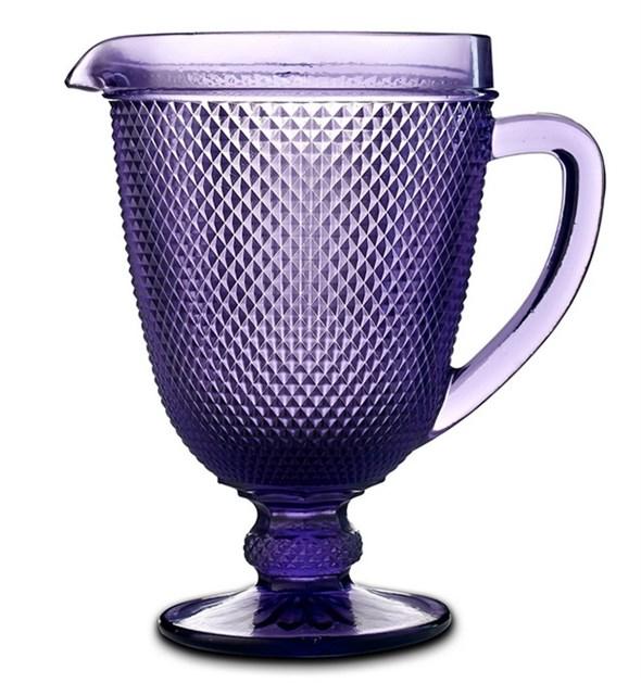 """Кувшин """"Винтаж"""" фиолетовый из цветного стекла - фото 21351"""