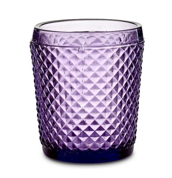"""Стакан """"Винтаж"""" 300 мл фиолетовый из цветного стекла - фото 21352"""