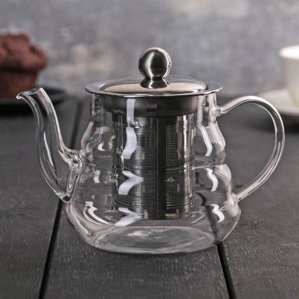 Чайник заварочный 400 мл c ситом - фото 21401