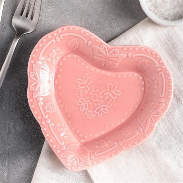 """Блюдце """"Сердце"""" 16х15 см - фото 21426"""