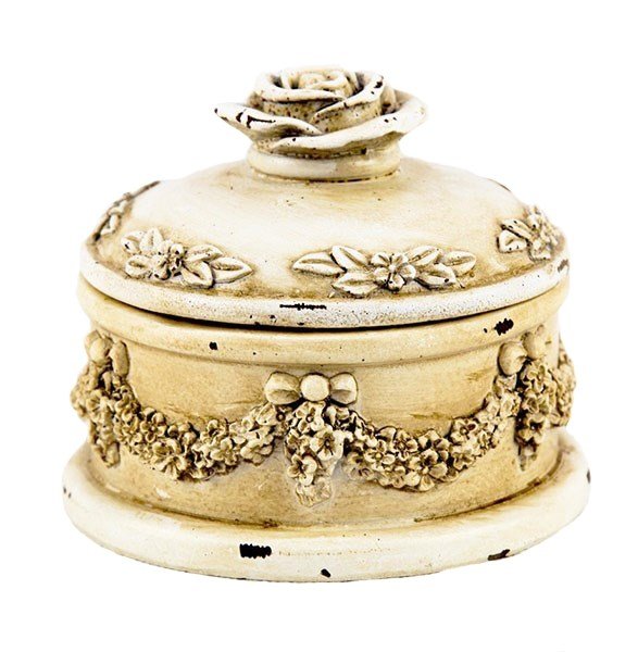 "Шкатулка ""Версаль"" диаметр 10 см - фото 21506"