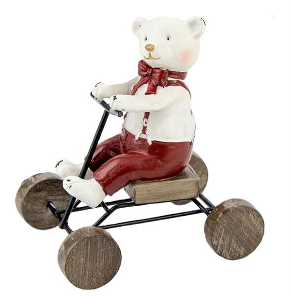 "Статуэтка ""Медвежонок на велосипеде"" - фото 21626"