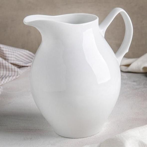 Кувшин керамический белый 2000 мл - фото 21710