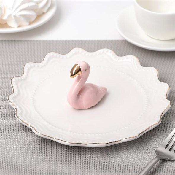 """Блюдо-подставка """"Фламинго"""" 20 см - фото 21721"""