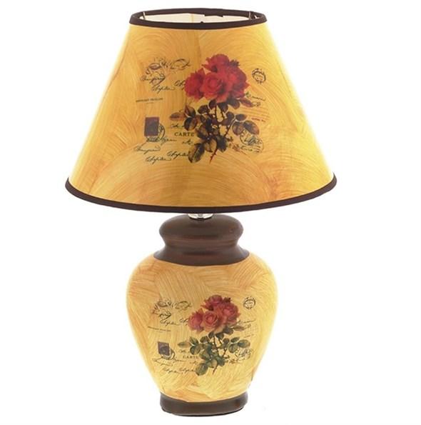 """Лампа настольная """"Розы"""" 37 см - фото 21948"""