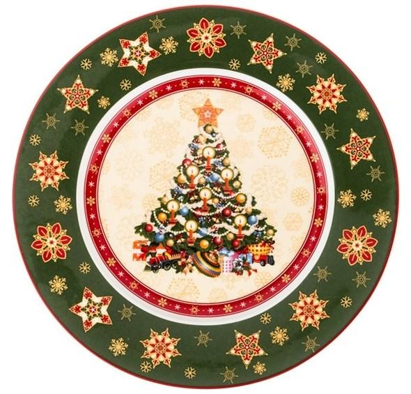 """Блюдо """"Новогоднее"""" диаметр 26 см в подарочной упаковке - фото 21997"""