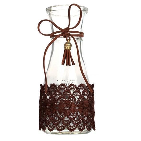 Бутылочка с декором 18 см - фото 22047
