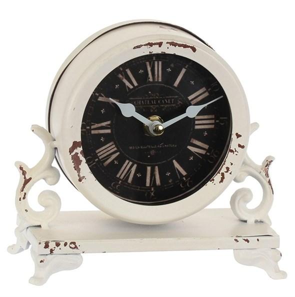 Часы настольные металлические состаренные - фото 22087