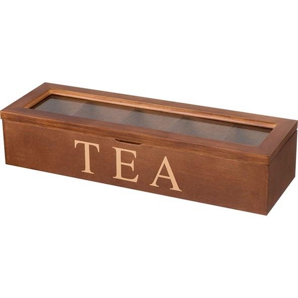 Шкатулка на чайных пакетиков на пять отделений - фото 22255