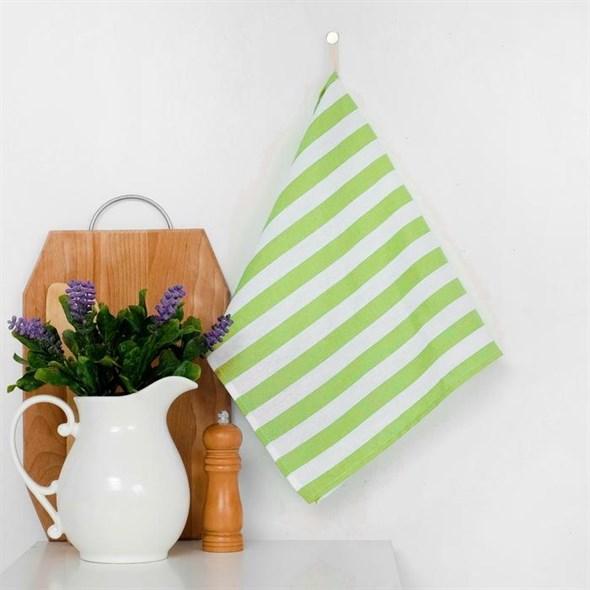 """Полотенце кухонное """"Зеленая полоса"""" 35х65 см - фото 22601"""