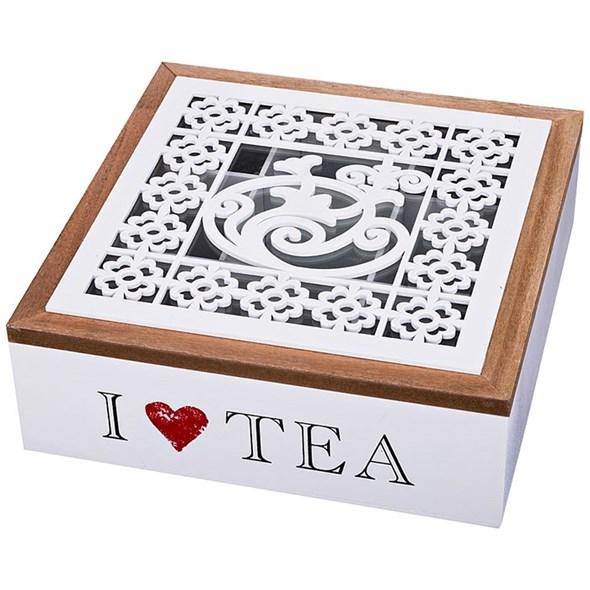 Шкатулка для чая на девять секция - фото 22798