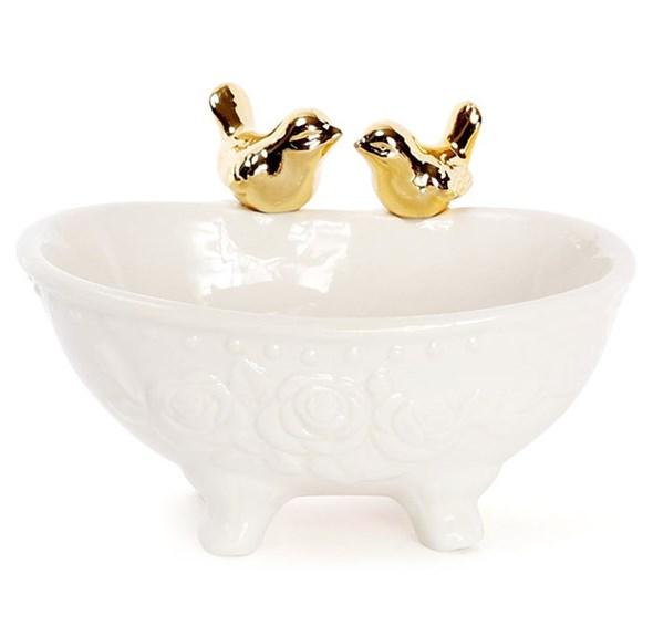 Ванночка с золотыми птицами - фото 22911