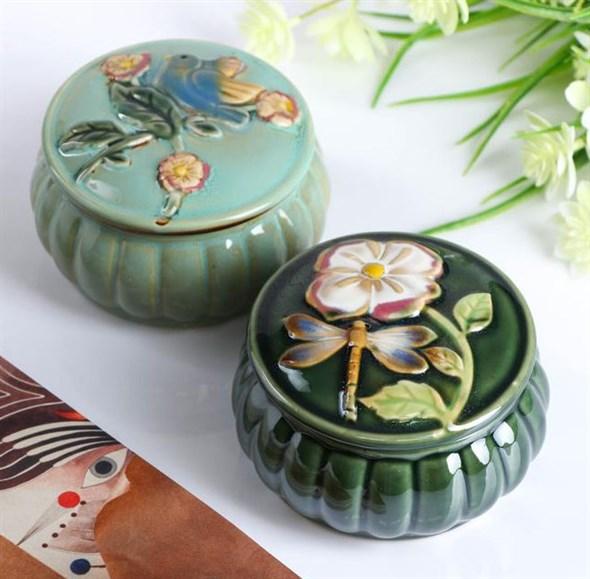 Шкатулка керамика 10 см, цена за штуку - фото 22962