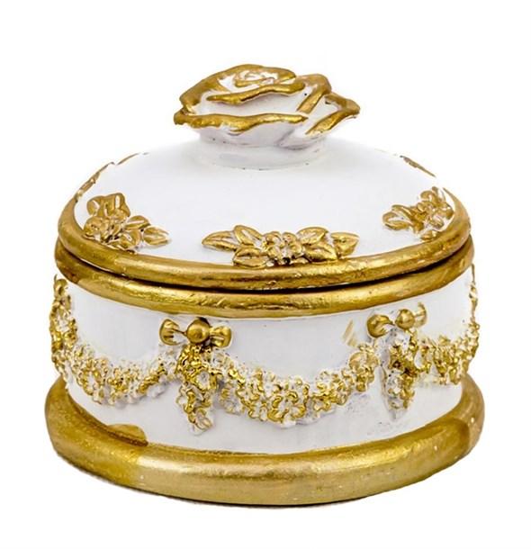 """Шкатулка """"Версаль"""" c золотистой каймой - фото 22986"""