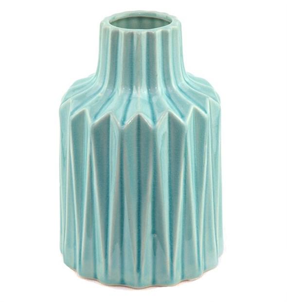 Ваза керамическая рифленая 20 см - фото 23088