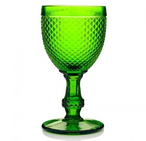 """Бокал """"Винтаж"""" зеленый 250 мл из цветного стекла - фото 23359"""