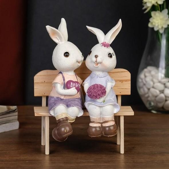 """Статуэтка """"Влюбленные зайцы"""" - фото 23365"""
