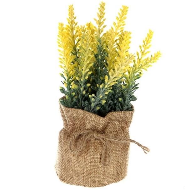 Цветок искусственный в мешочке желтый - фото 23378